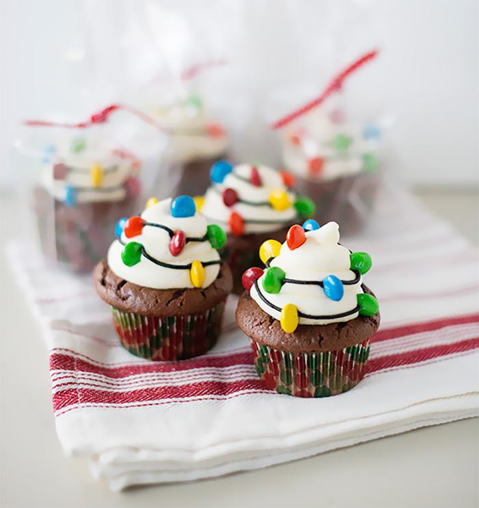 cupcake de árvore de natal