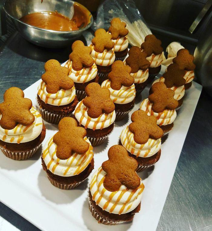 cupcake de natal biscoito