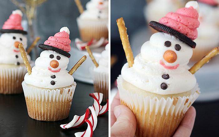 cupcake de natal boneco de neve 3