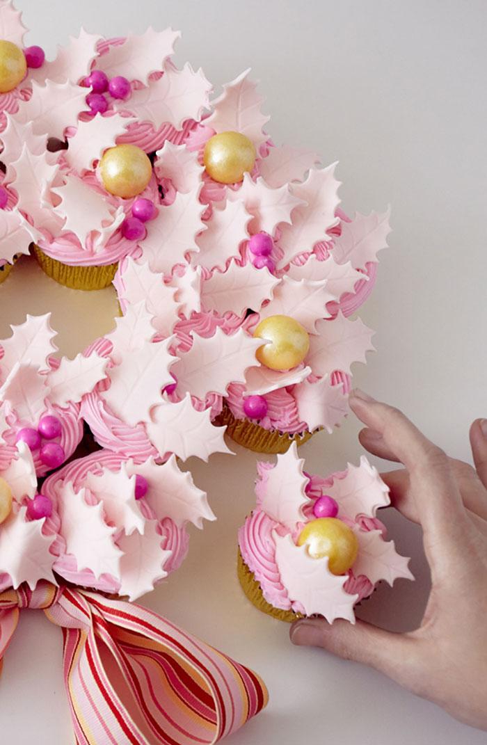 cupcake de natal delicados