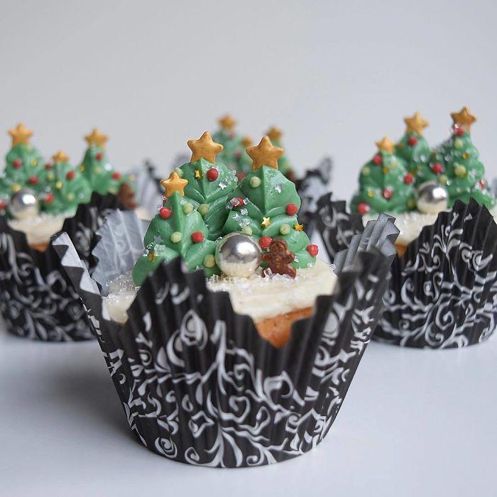 cupcake de natal delicoso