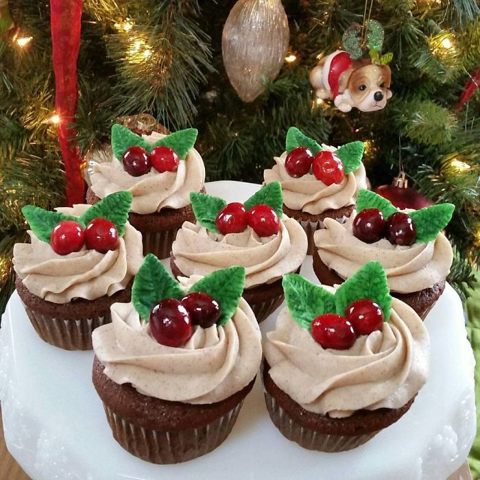cupcake de natal festivo