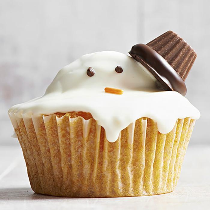 cupcake de natal fofinho