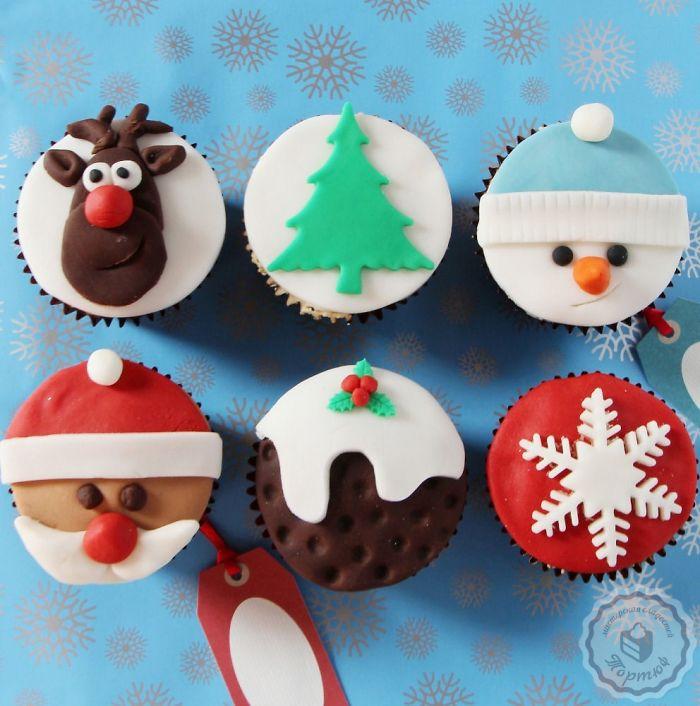 cupcake de natal fotos