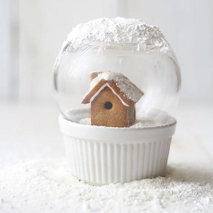 cupcake de natal globo de neve