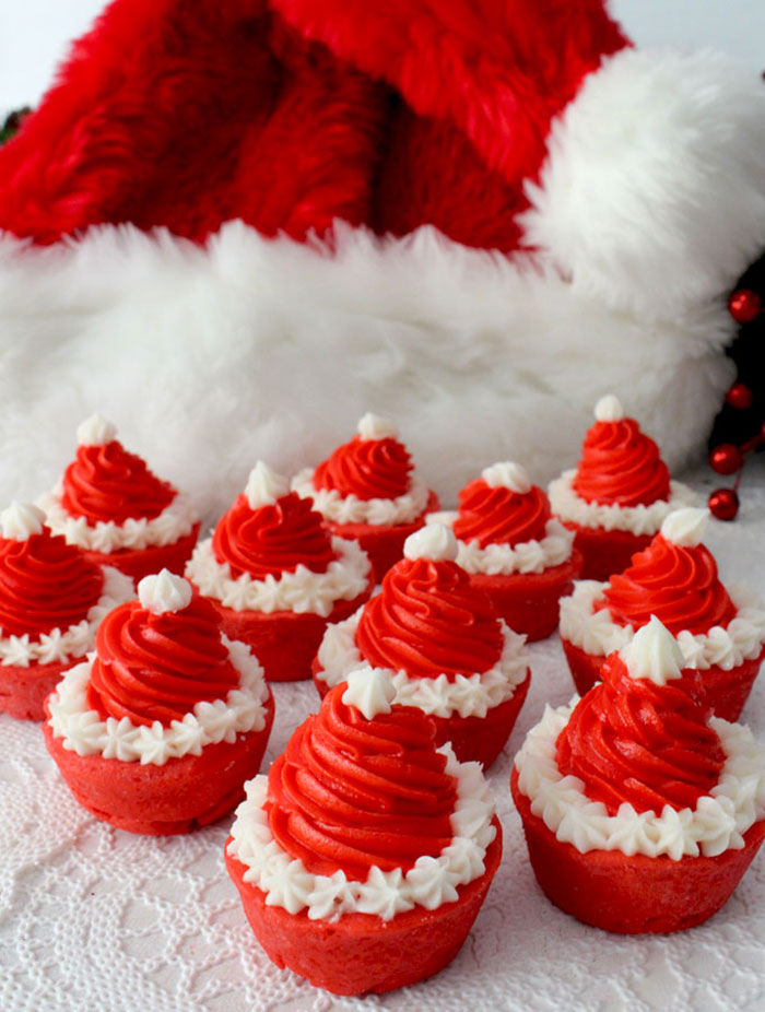 cupcake de natal gorro do papai noel