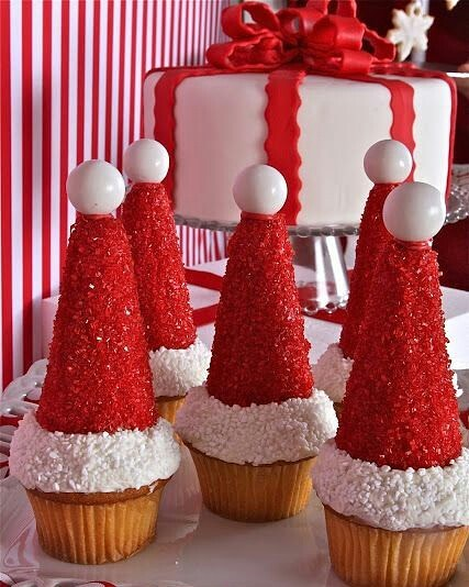 cupcake de natal gorro papai noel
