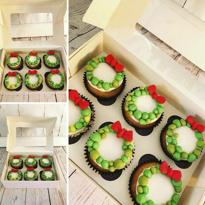 cupcake de natal guirlanda de natal