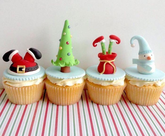 cupcake de natal inspiração