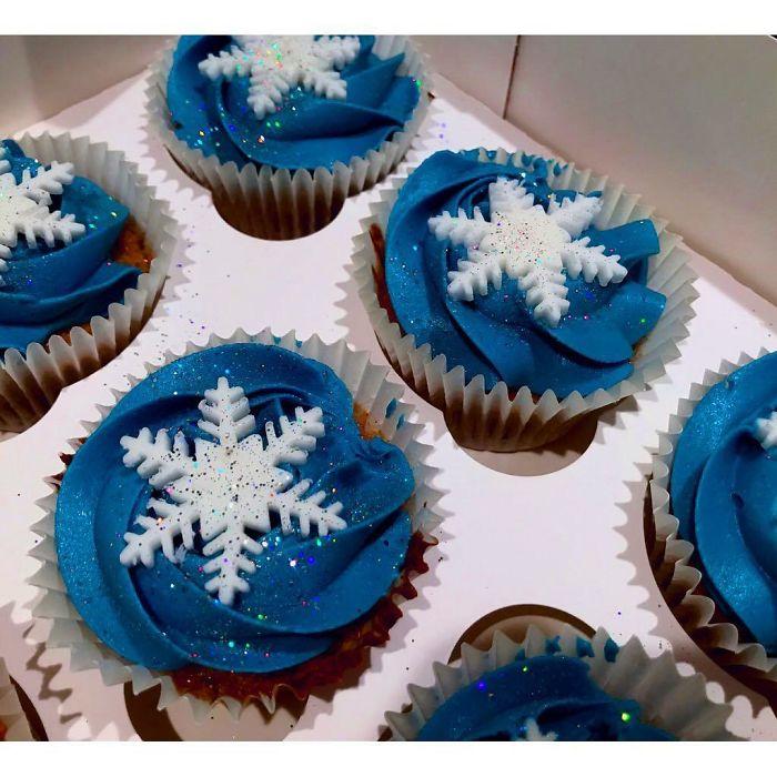 cupcake de natal neve