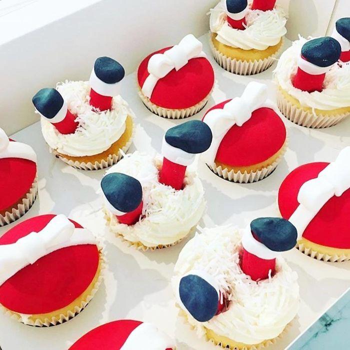 cupcake de natal papai noel