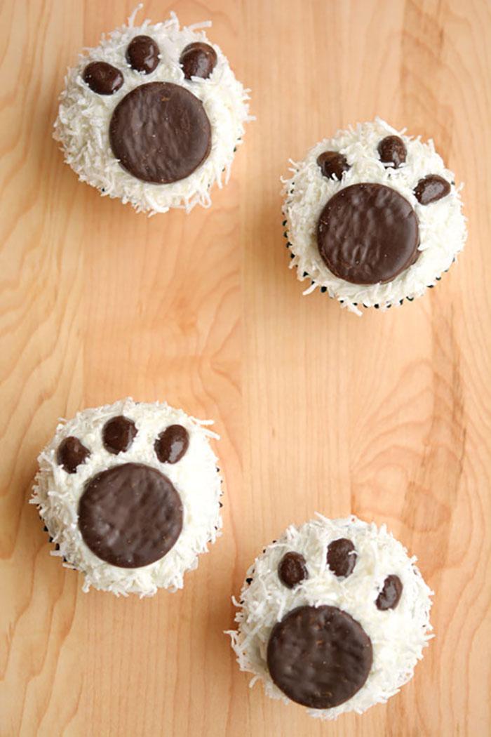 cupcake de natal pata de urso