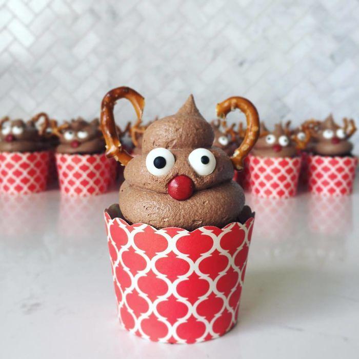 cupcake de natal rena