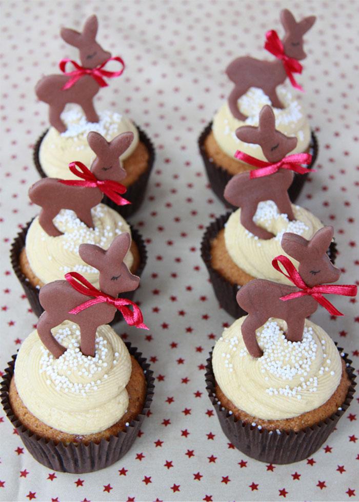 cupcake de natal renas