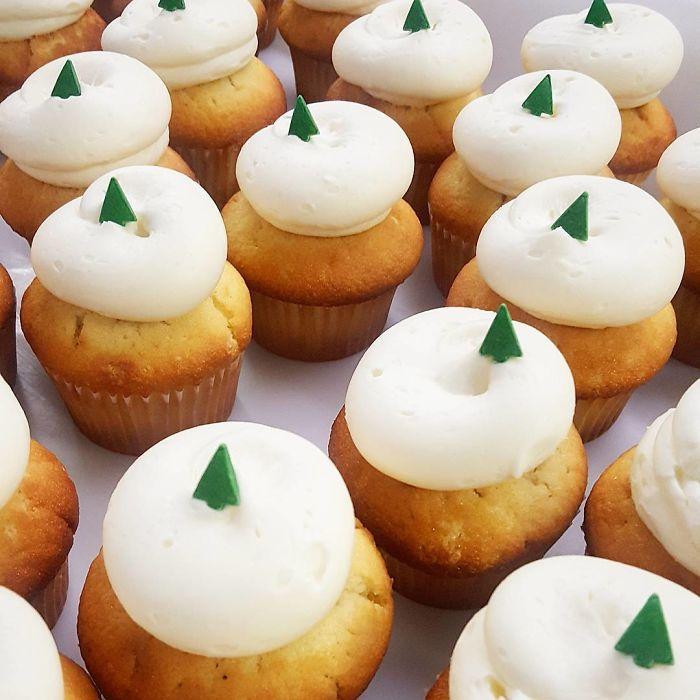 cupcake de natal simples