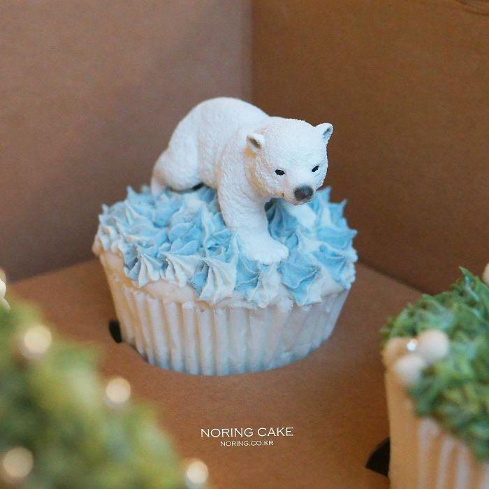 cupcake de natal urso polar