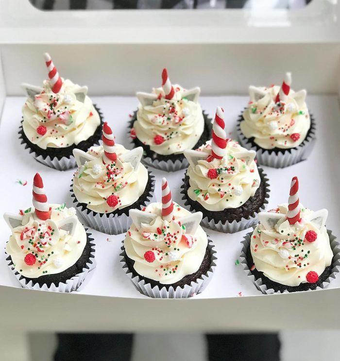 cupcake unicórnio natal