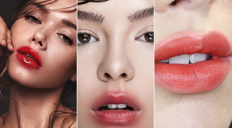 lábios borrados coreanas tendências