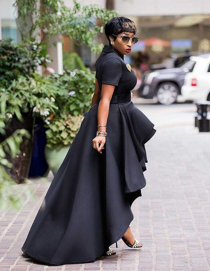 vestido mullet preto festa