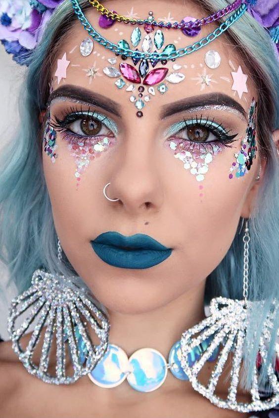 maquiagem de sereia fotos