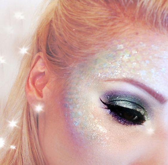maquiagem de sereia olhos