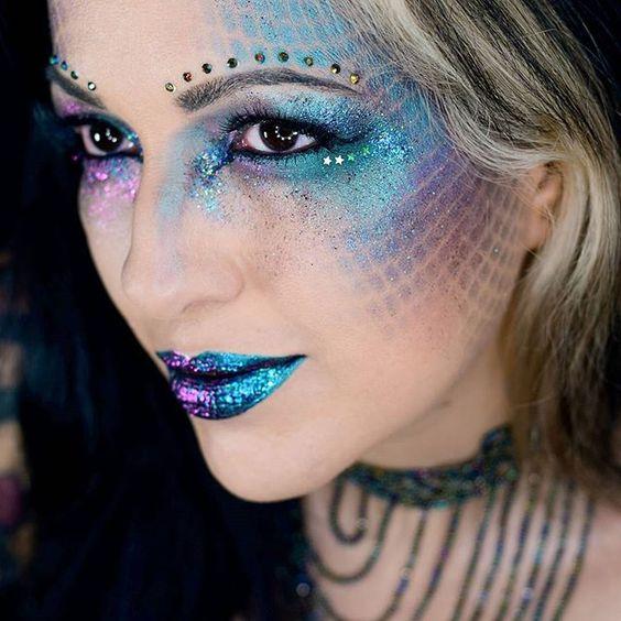 maquiagem de sereia tutorial