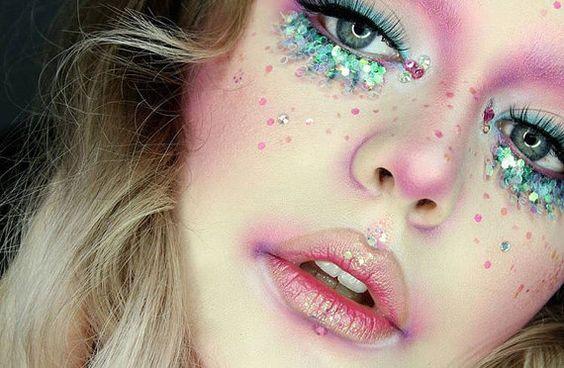 maquiagem de unicórnio fotos