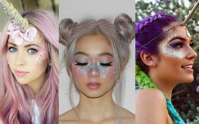maquiagem de unicórnio