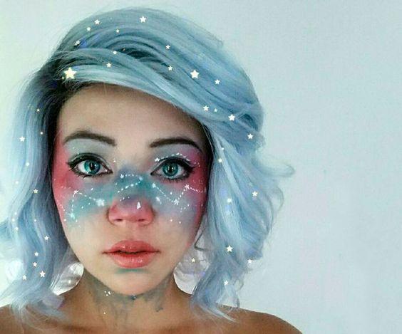 maquiagem galaxy print