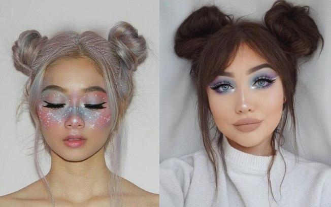 olhos maquiagem de unicórnio