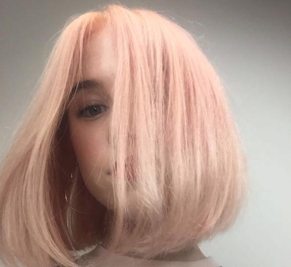 pêssego desbotado tom cabelos 2018