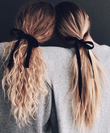 penteados com laços de fitas