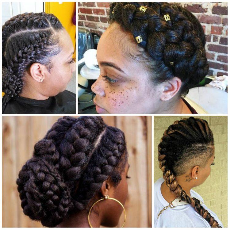 penteados com tranças cabelo crespo