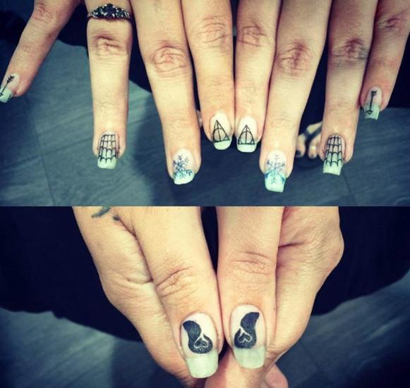 tatuagem nas unhas