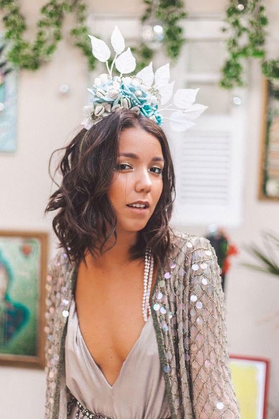 tiara de flores carnaval