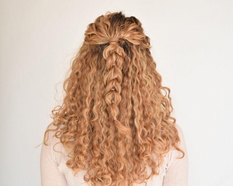 trança atrás cabelo crespo
