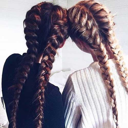 trança boxeadora cabelo longo