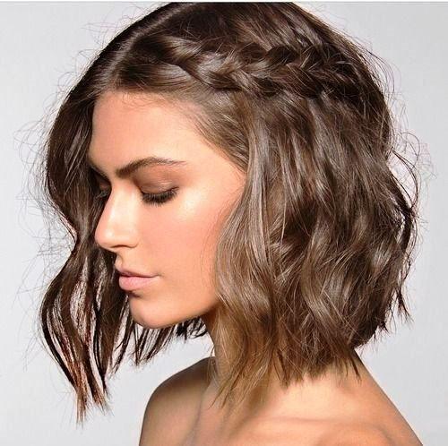 trança lateral cabelo curto