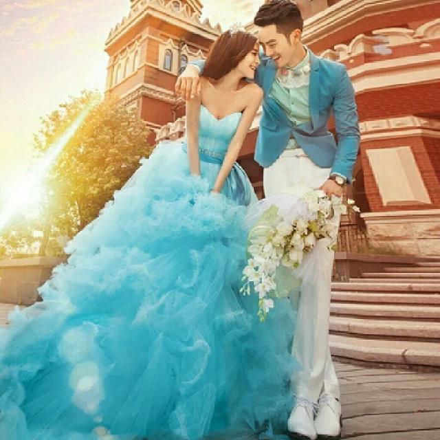 vestido debutante 15 anos azul água