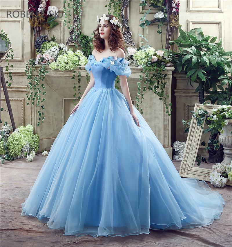 vestido debutante 15 anos azul claro cinderela