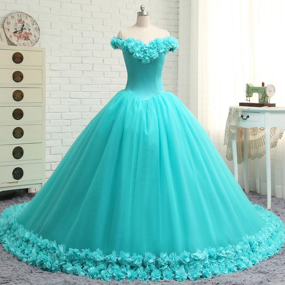 vestido debutante 15 anos azul claro longo