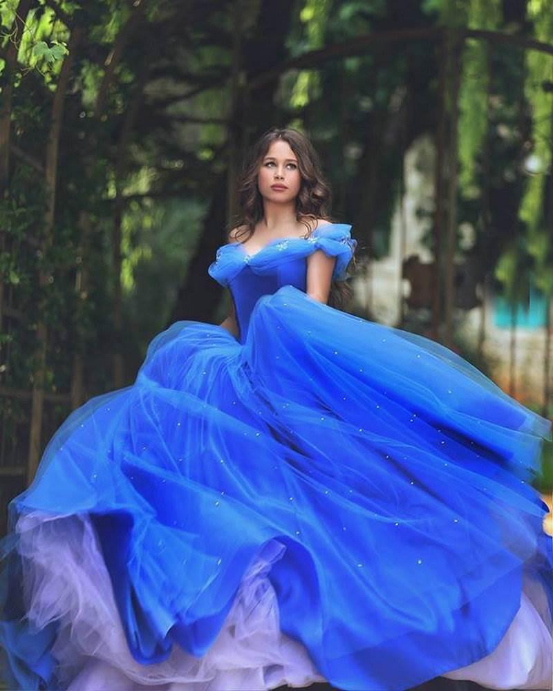 vestido debutante 15 anos azul