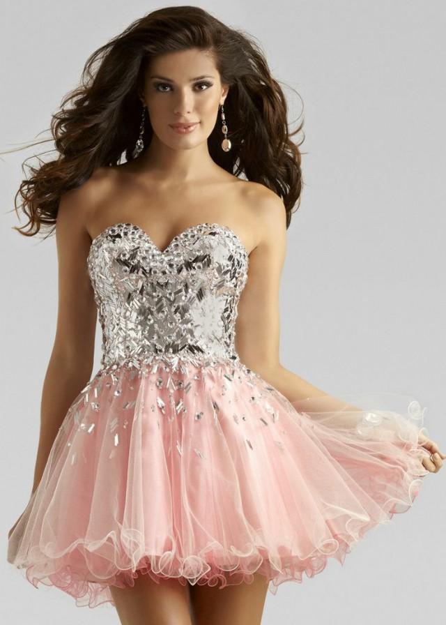 vestido debutante 15 anos curto rosa e prata