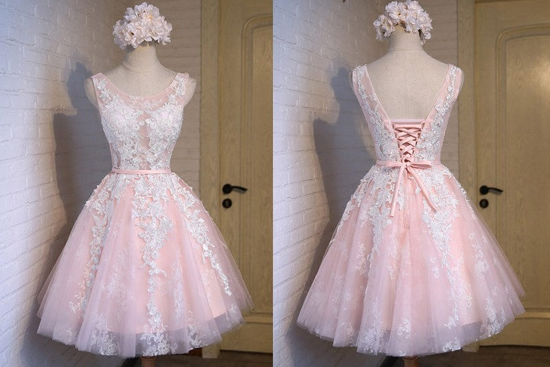 vestido debutante 15 anos curto rosa