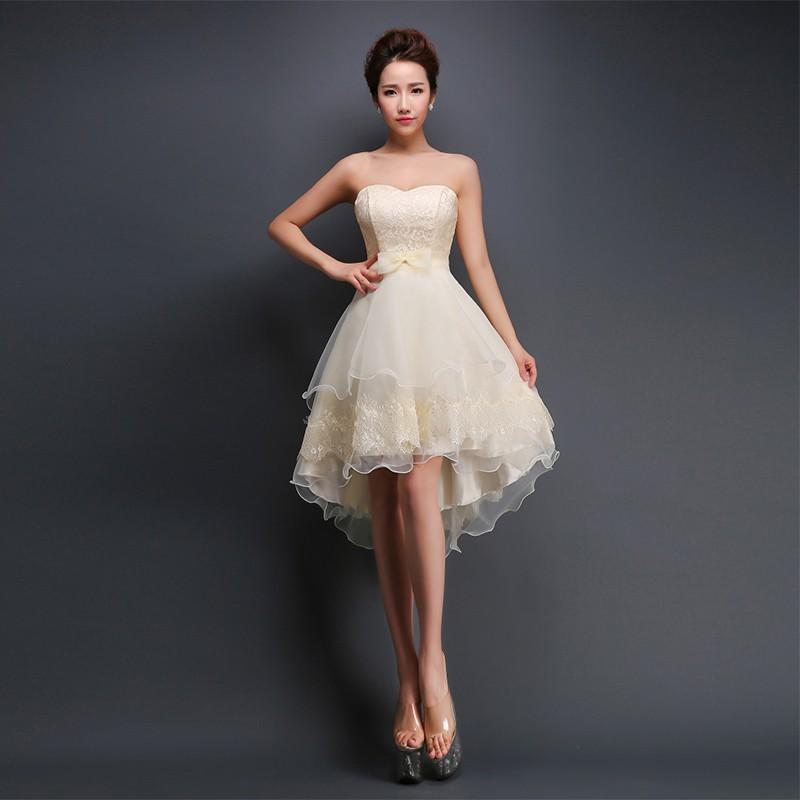 vestidos para debutante curto bege delicado