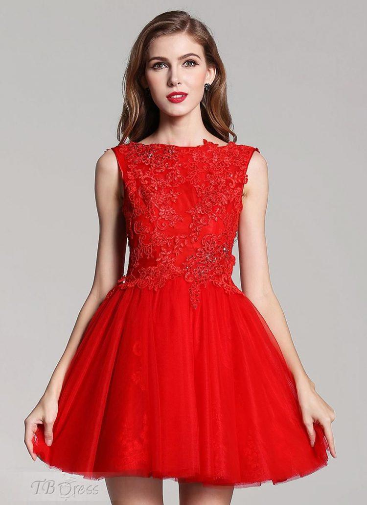 vestido debutante 15 anos curto vermelho