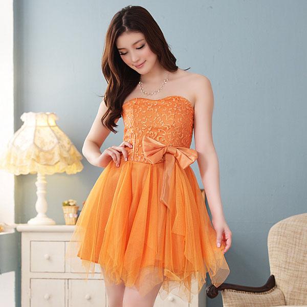 vestido debutante 15 anos laranja curto