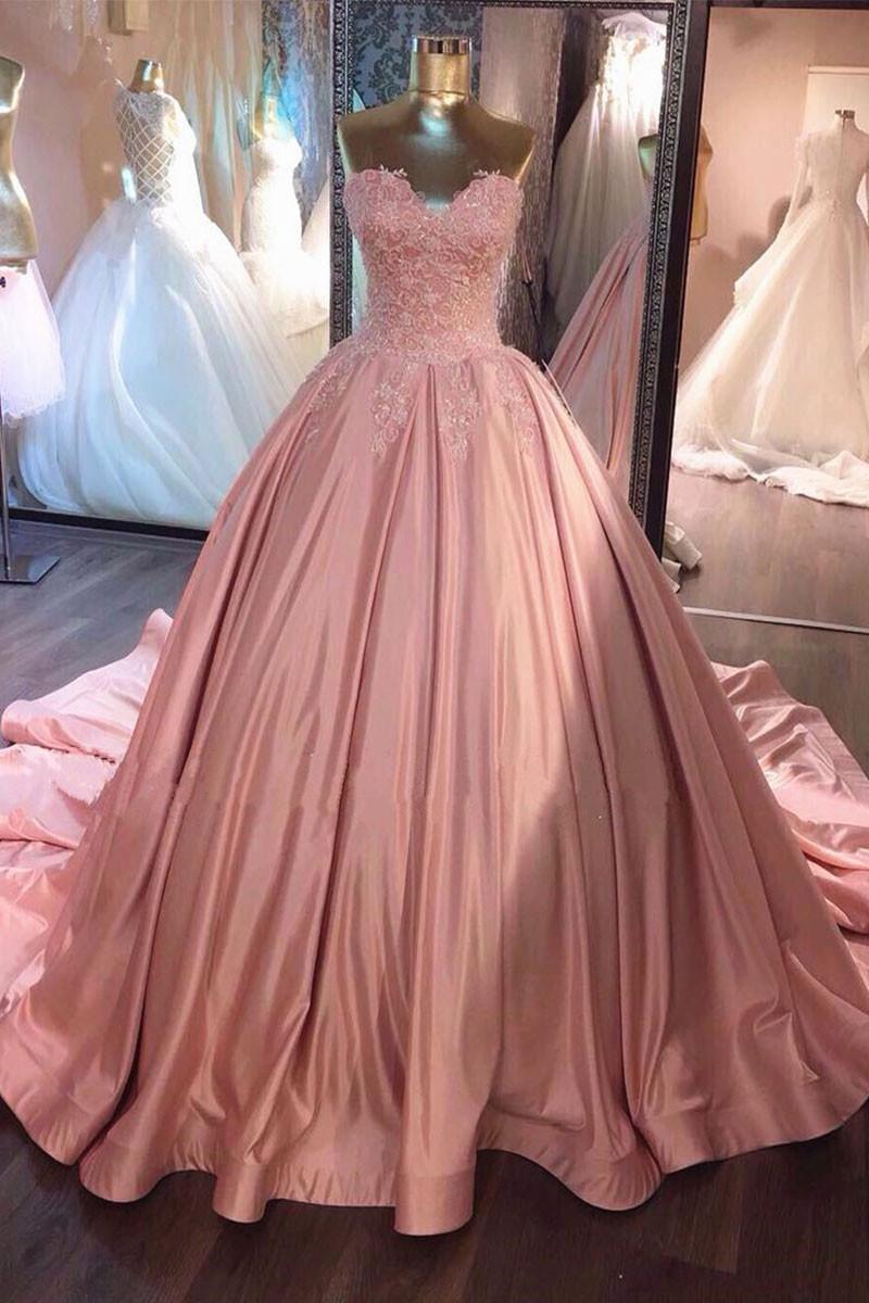 vestido debutante 15 anos longo rosa envelhecido