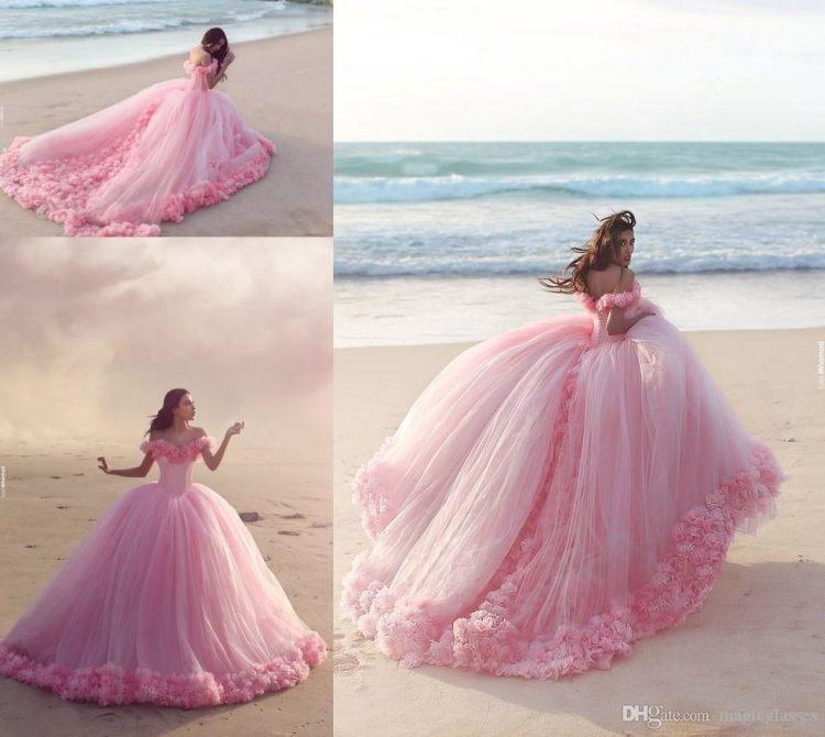vestido debutante 15 anos longo rosa estilo princesa