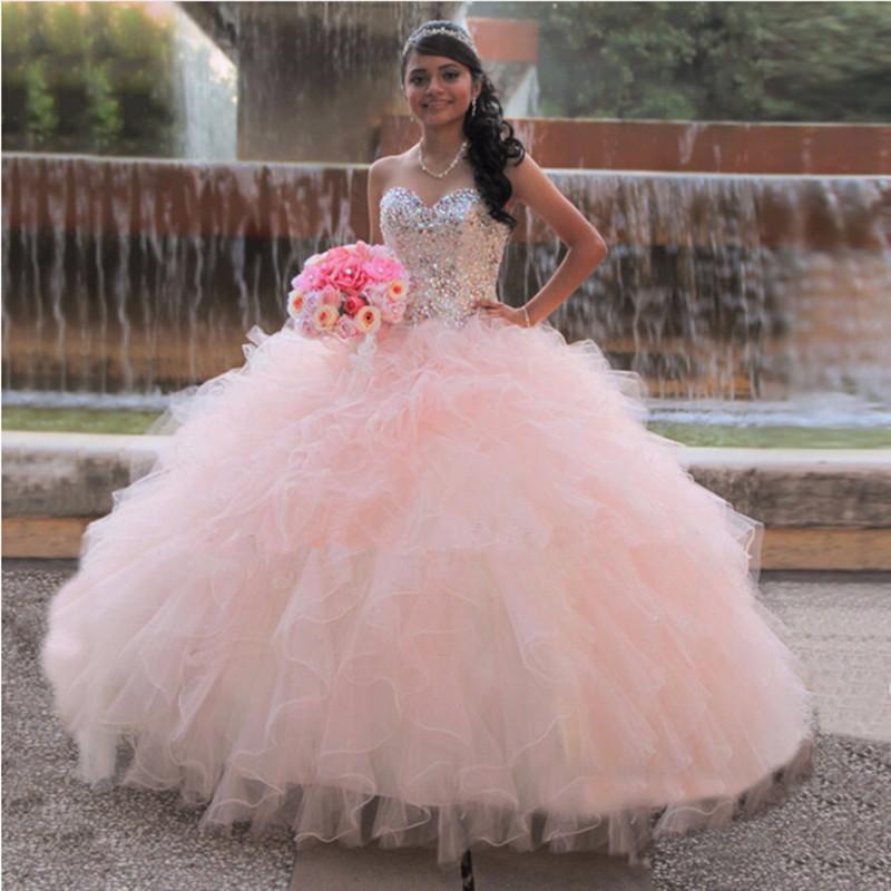 vestido debutante 15 anos princesa longo rosa